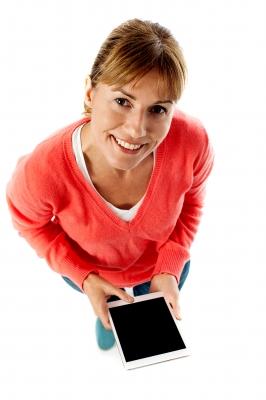 kobieta wnioskująca o pożyczkę online - Rybnik